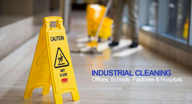 industrial areas and offices are cleaned regularly